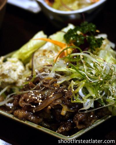 beef slices w/ teriyaki sauce