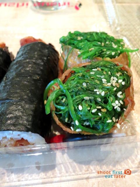 sushi sushi Melbourne- seaweed inari A$2