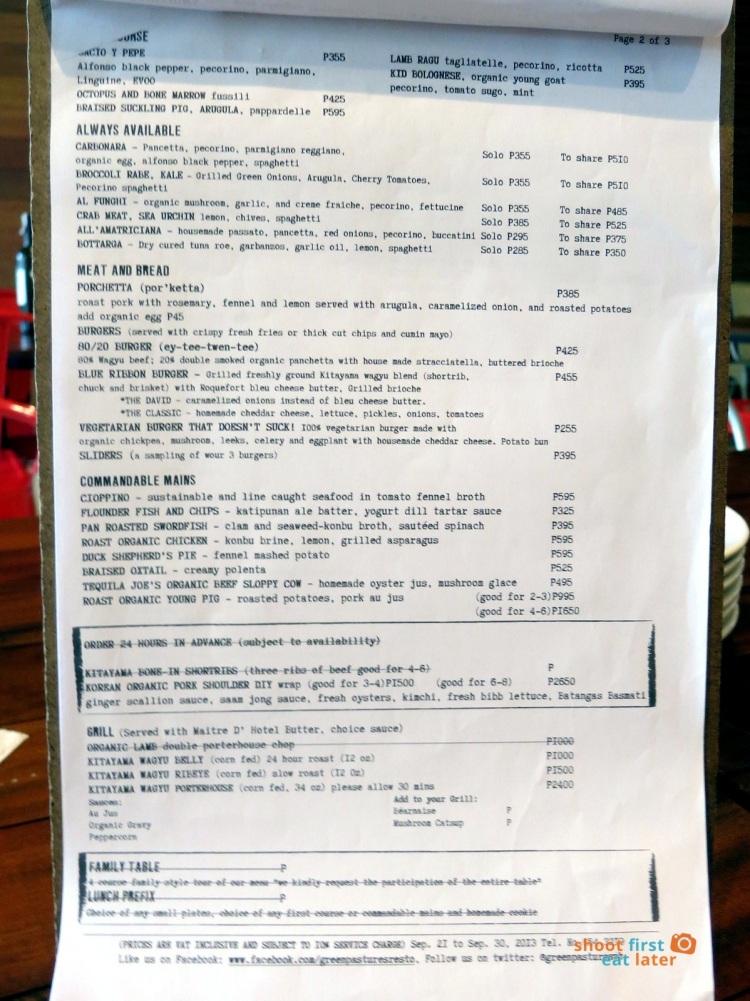 Green Pastures (Shangri-La) menu-001