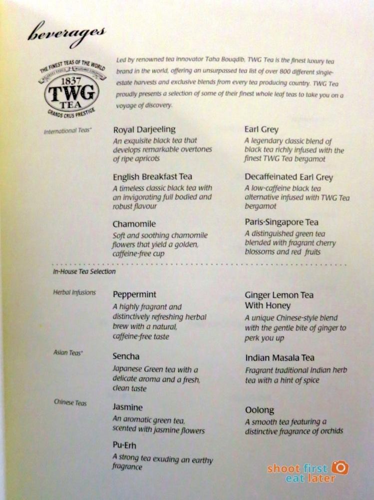 SQ 919 A330-300 Mnl-Sin- dinner menu business class-007