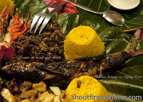 Pension Ivatan platter- flying fish