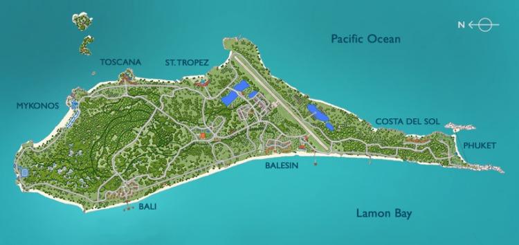 Balesin island map