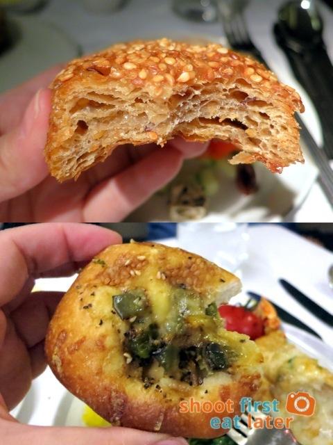 sesame bread & olive bread