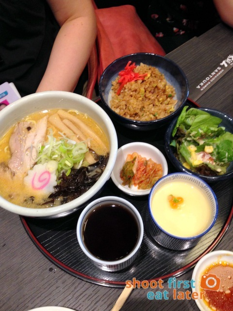 Hokkaido Ramen Santouka- small ramen, fried rice, salad & chawan mushi