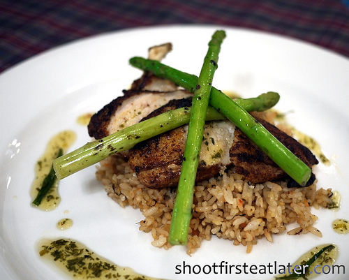 Spiced Chicken Breast with Orange Rice Pilaf