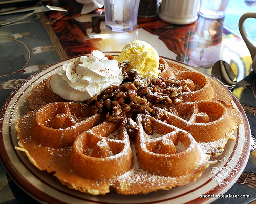 Pecan-Topped Waffle