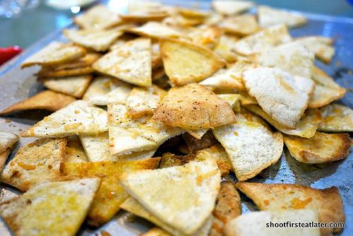 Garlic Parmesan Pita Chips-7