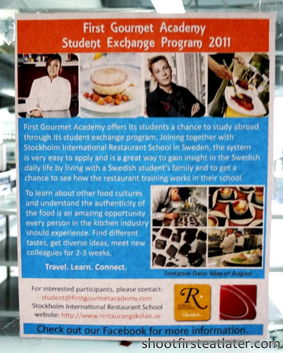 First Gourmet Academy student exchange program