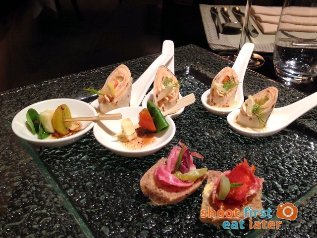Oakroom Restaurant and Bar - amuse bouche