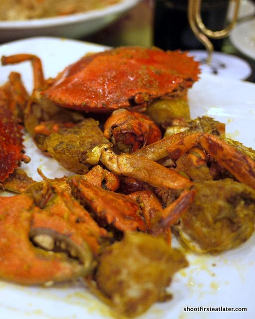 baked crab w/ salted egg yolk