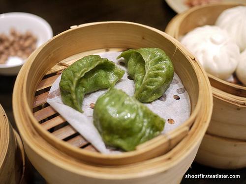 shrimp stuffed spinach dumpling