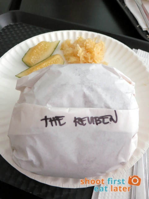 L.E.S. Bagels - The Reuben bagel sandwich . Bagels -013