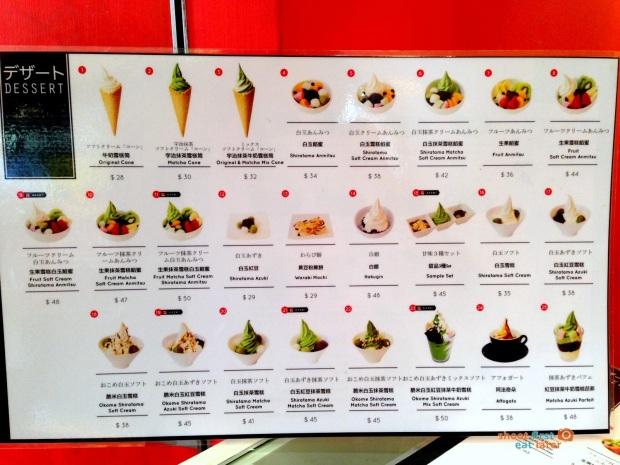 Via Tokyo menu