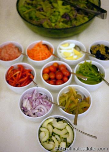 Hamilo Coast buffet lunch-salad bar