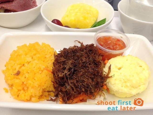 beef adobo flake,  Pinoy spiced vinegar, kalo kalo fried rice