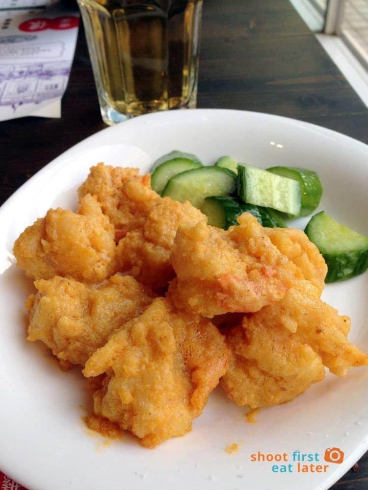 Shanghai Popo- fried shrimp in salted egg