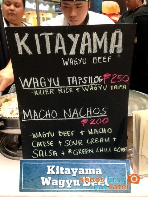 Kitayama Wagyu Beef's macho nachos P200