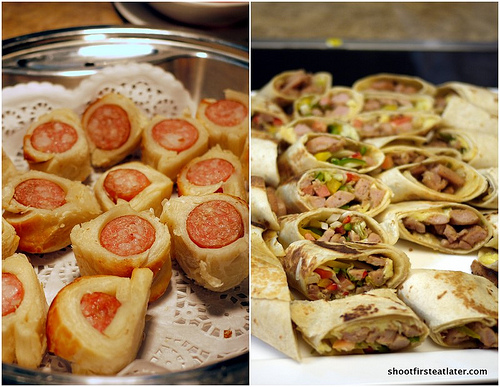 sausage rolls & sausage fajitas