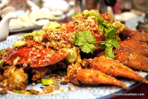 salt & pepper fried crabs