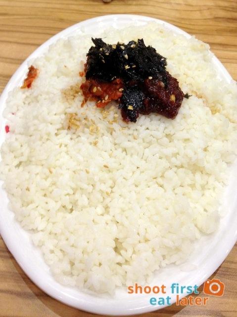 Yoogane marinated chicken galbi fried rice P245