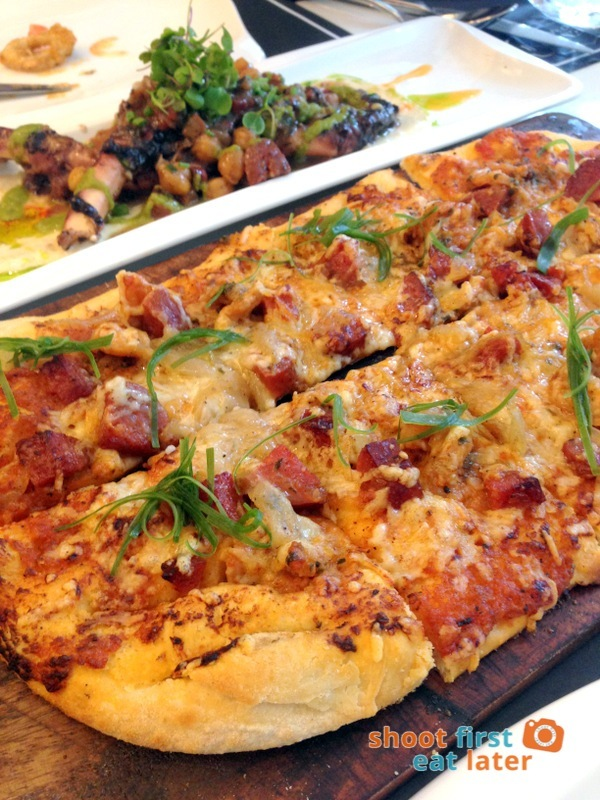 Todd English Food Hall Manila- Chorizo & Shrimp Flatbread Pizza P650
