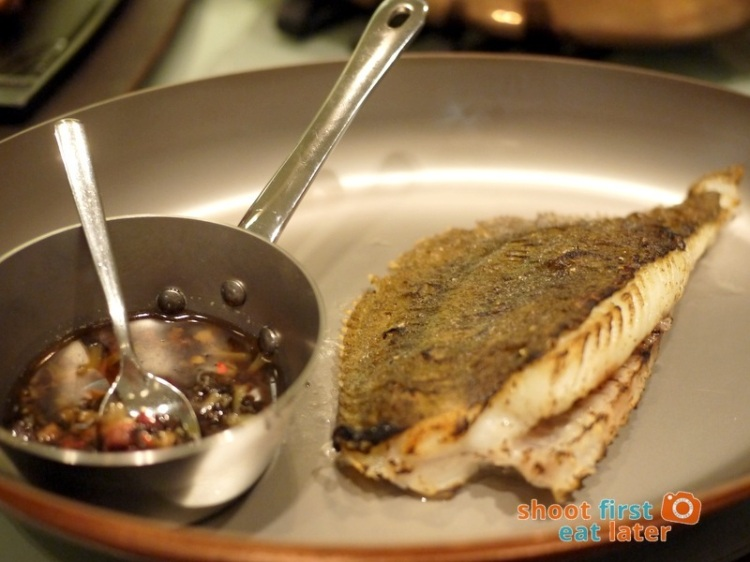 Allium Restaurant - Turbot ala Plancha with House Made XO Sauce