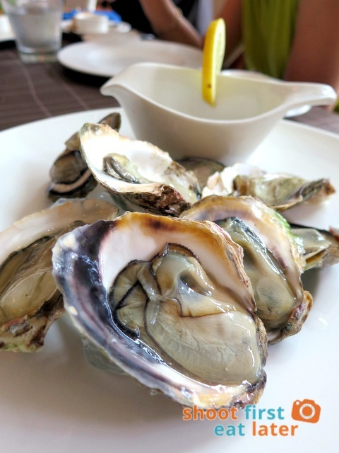 ROXAS Fresh oyster with red wine vinegar