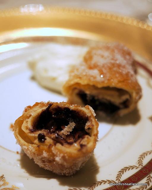 chocolate beignet w/ chantilly cream