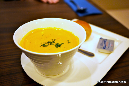 Japanese pumpkin cream soup