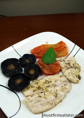 Cohen Lifestyle Seafood Meals- baked tilapia with mushroom & tomato