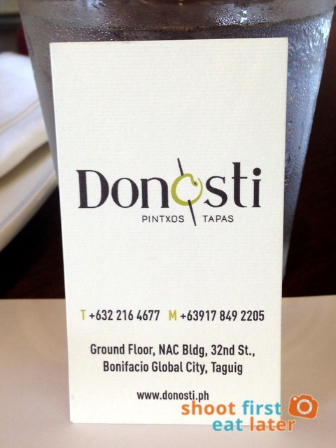 Donosti business card