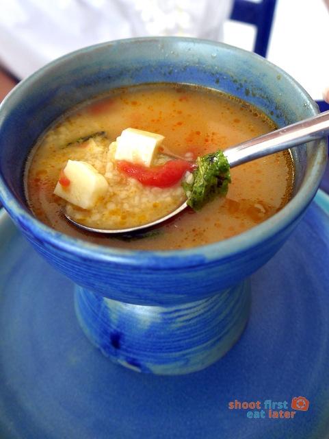 Balesin Island Club - Mykonos Village's Taverna Thanassis restaurant- trachanas soup