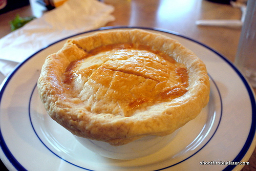 slow-roasted chicken pot pie