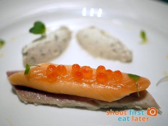smoked fish variation, horseradish cream