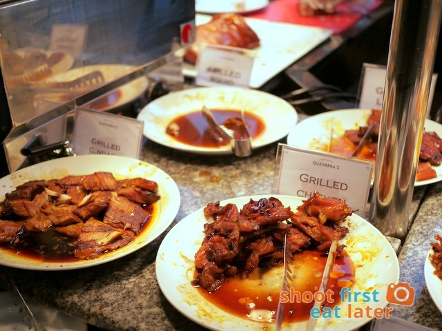 Chef Laudico Guevarra's- grilled gindara, chicken, liempo
