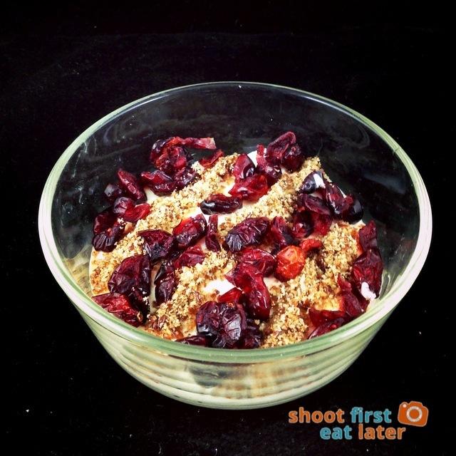 dried cranberry, LSA, low fat Greek yogurt