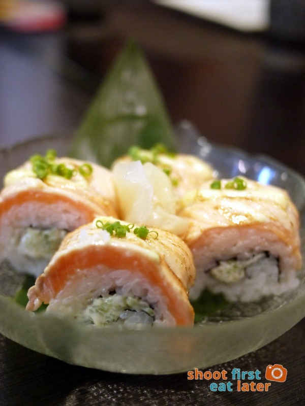 Toki Japanese REstaurant- salmon aburi bou sushi P360