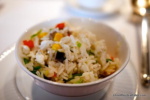 Fried rice w/ mushrooms, egg whites & vegetables