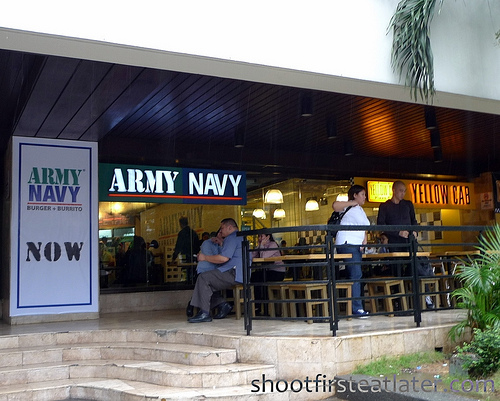 Army Navy burger + burrito