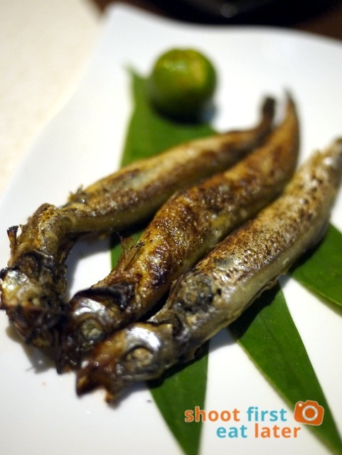 shishamo (smelt fish with eggs) P220
