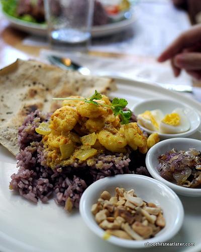 shrimp & mango curry plate