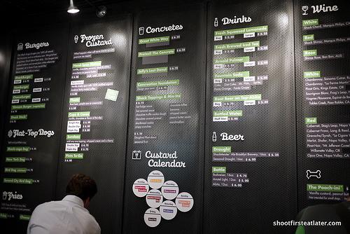 Shake Shack's menu