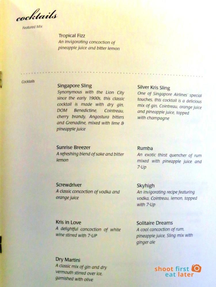 SQ 919 A330-300 Mnl-Sin- dinner menu business class-004