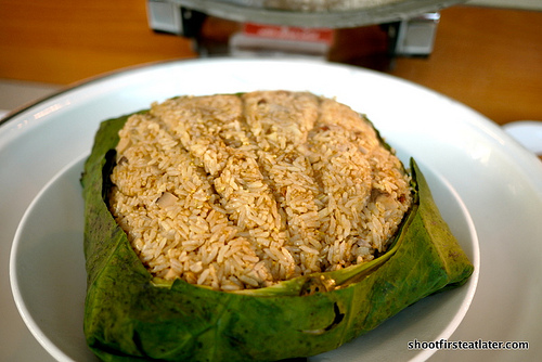 fried rice wrapped w/ lotys leaf