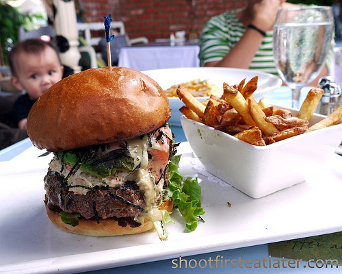 Chef Katsu's original California roll burger