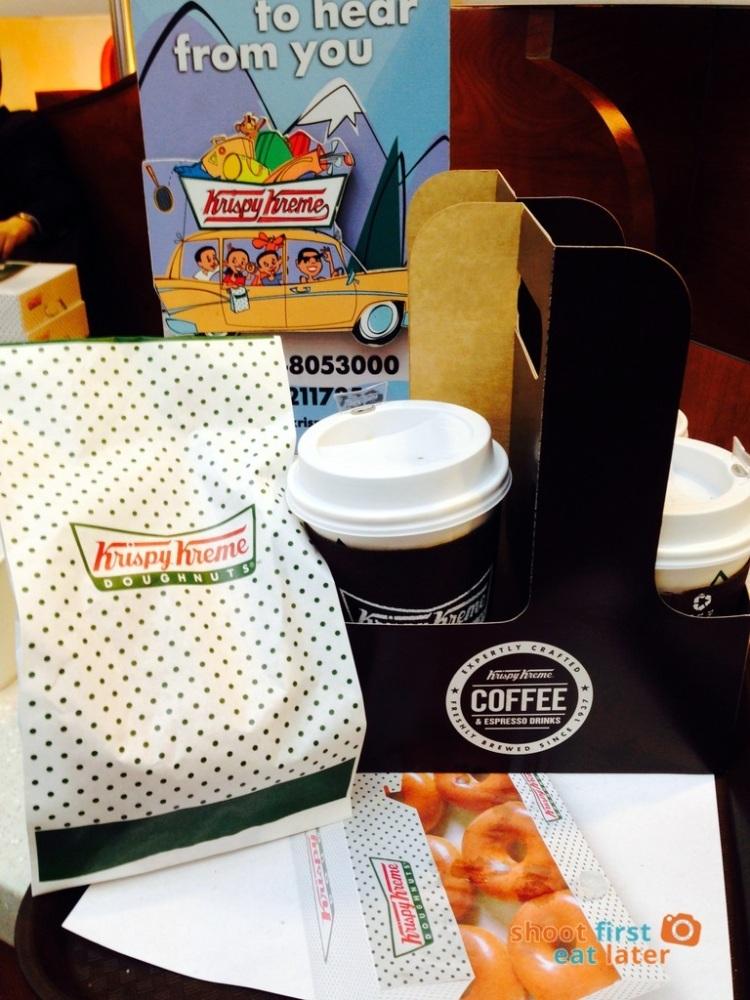Krispy Kreme Glazed Donuts and Coffee