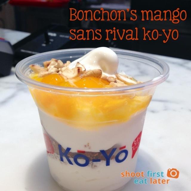 Bonchon's mango sans rival ko-yo