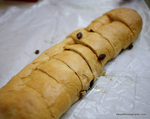 Palaganas Bakery's raisin bread