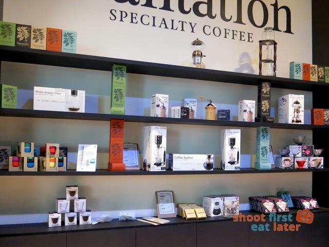 Plantation Coffee's retail area