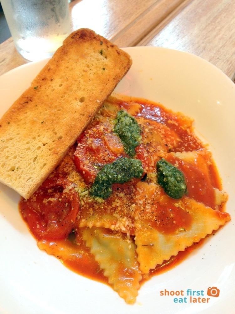Bistro Ravioli (MOA)- Spinach and Feta Cheese Ravioli in Pesto Sauce P255